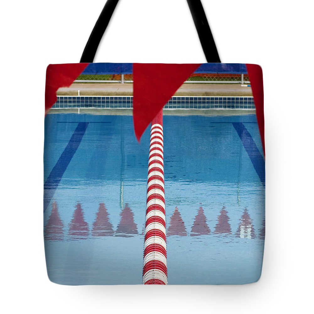 Flag Tote Bag featuring the photograph Pool by Skip Hunt