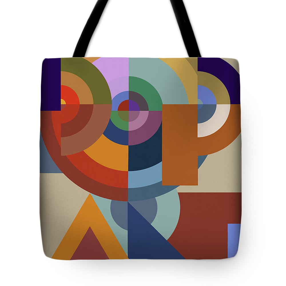 Tencc Tote Bag featuring the painting Pop Art Bauhaus - Abstract Graphic  Composition by Big Fat ef263ff849414