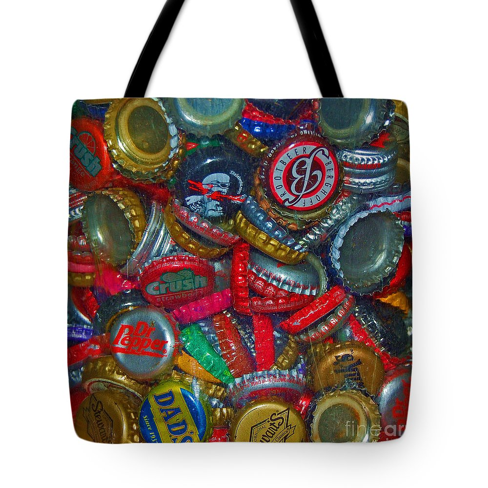 Bottles Tote Bag featuring the photograph Pop Art by Debbi Granruth