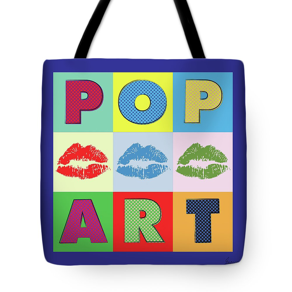 Pop Art Lips Tote Bag For Sale By Gary Grayson
