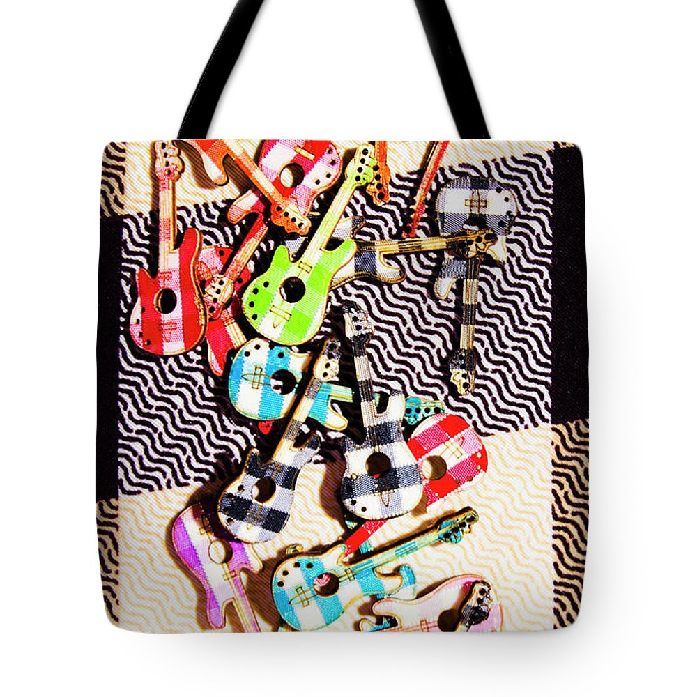 Music Tote Bag featuring the photograph Pop Art Music by Jorgo Photography - Wall Art Gallery