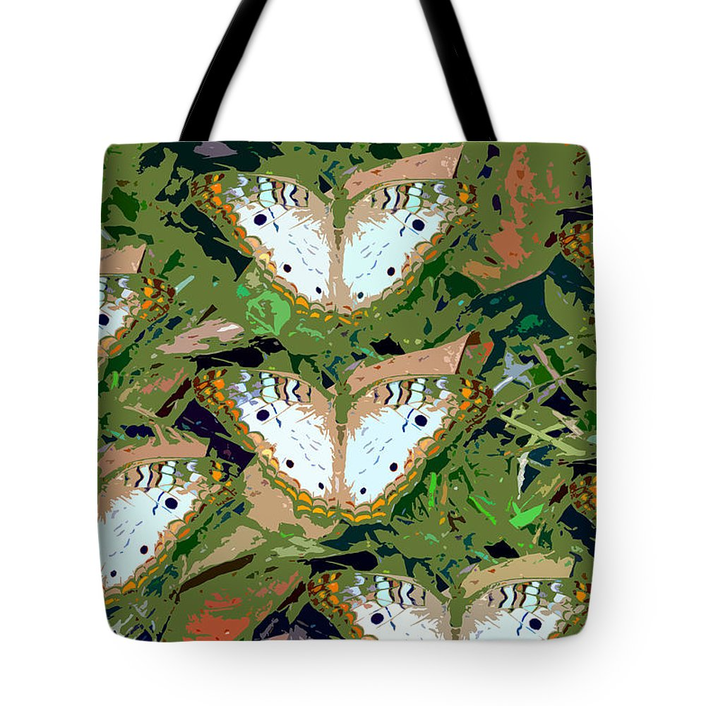 Butterfly's Tote Bag featuring the painting Pop Butterfly's Work Number Three by David Lee Thompson