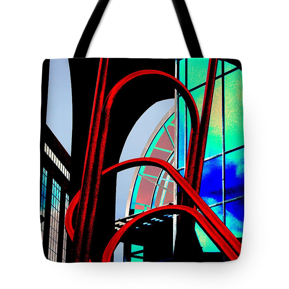 Urban Landscape Tote Bag featuring the photograph Pop by Ric Bascobert