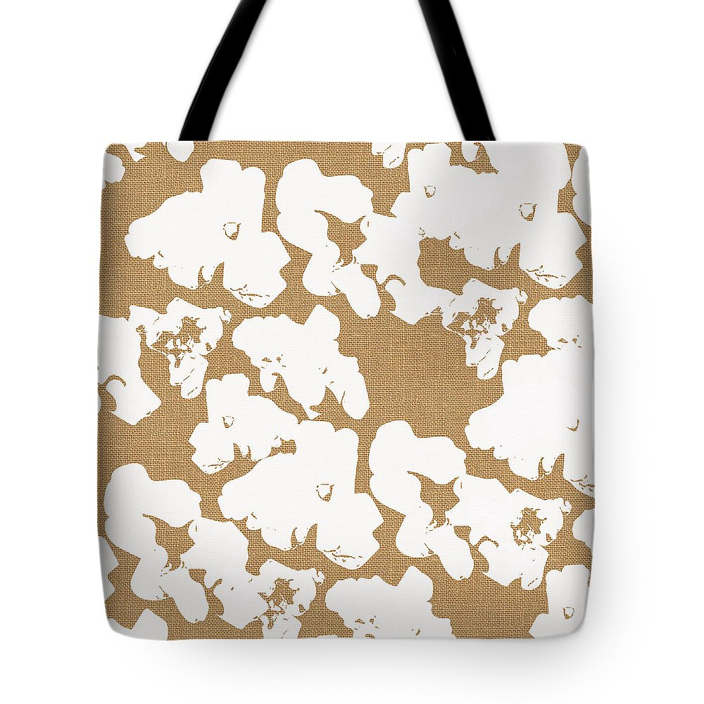 Popcorn Tote Bag featuring the mixed media Popcorn- Art By Linda Woods by Linda Woods