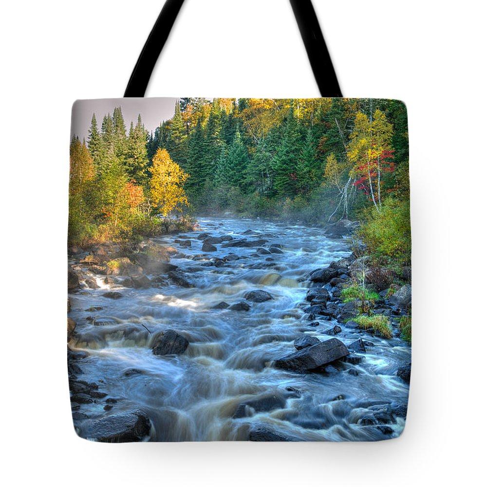 Poplar River Tote Bag featuring the photograph Poplar River by Shane Mossman