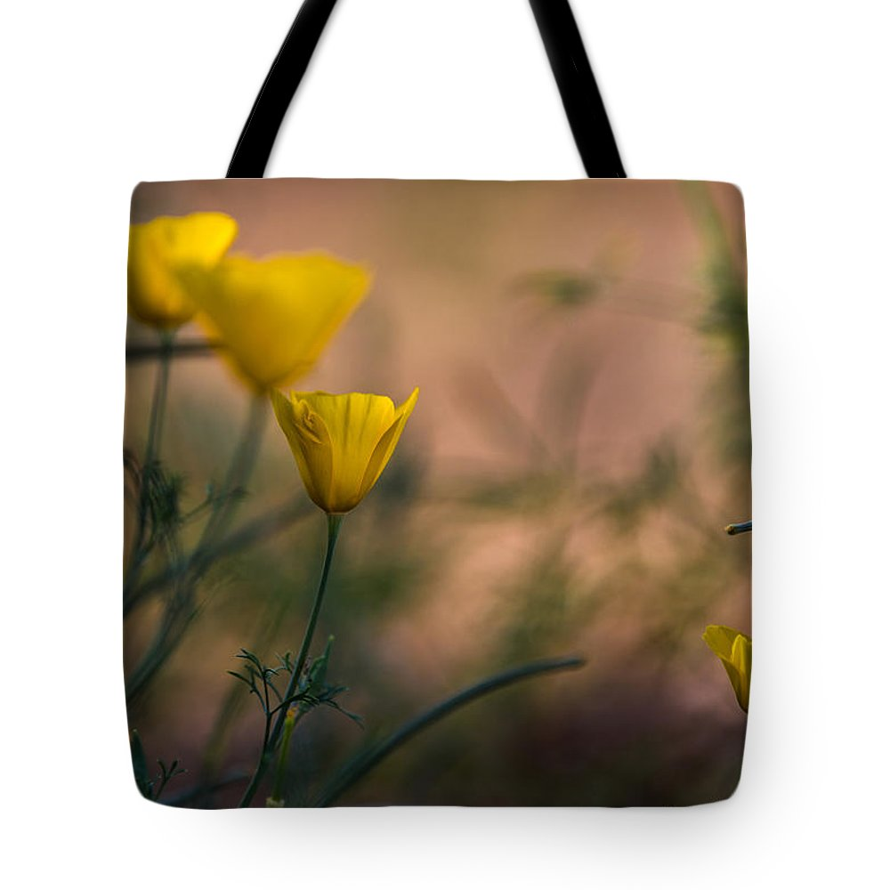 Bartlet Lake Tote Bag featuring the photograph Poppies by Lori Figueroa