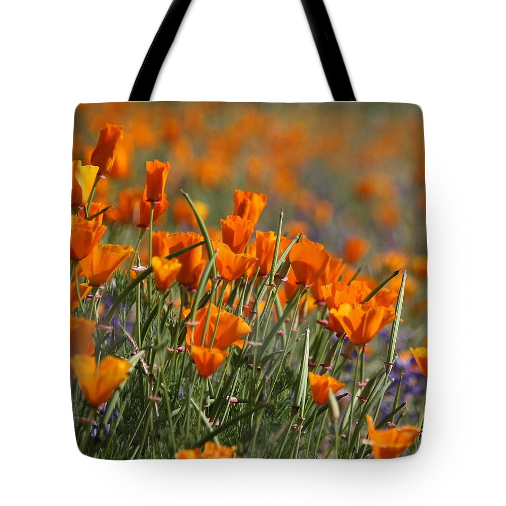 Poppies Tote Bag featuring the photograph Poppies by Patrick Witz