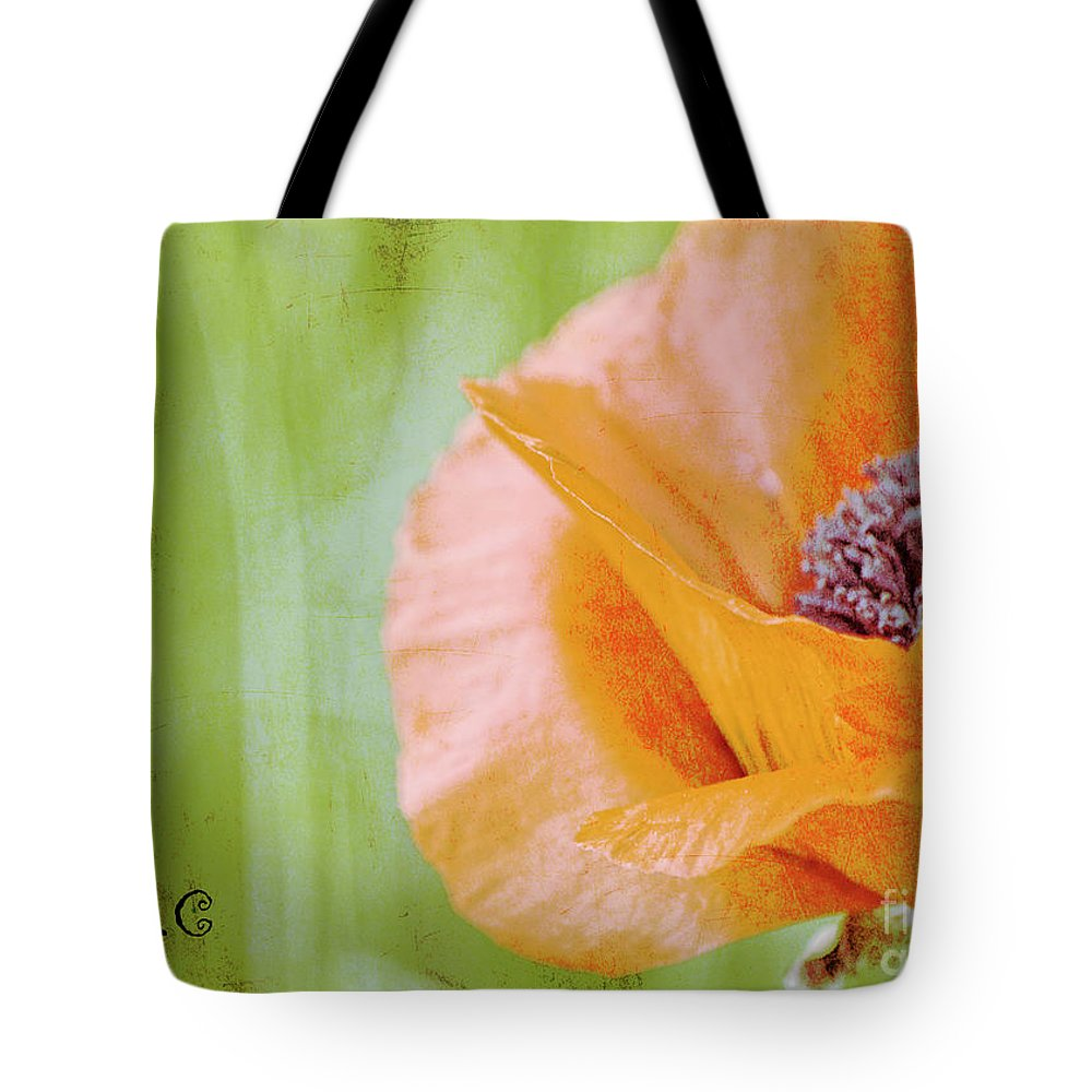 Poppy Tote Bag featuring the photograph Poppy 9 by Traci Cottingham
