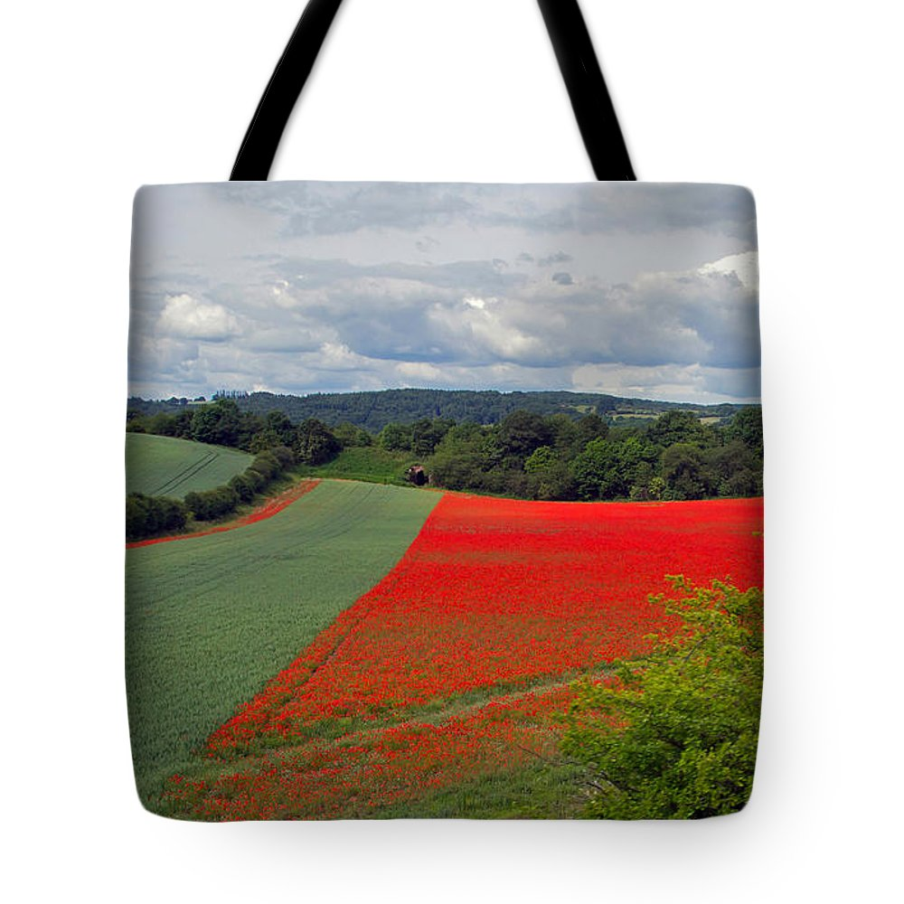 Farm Tote Bag featuring the photograph Poppy Field by Keith Armstrong