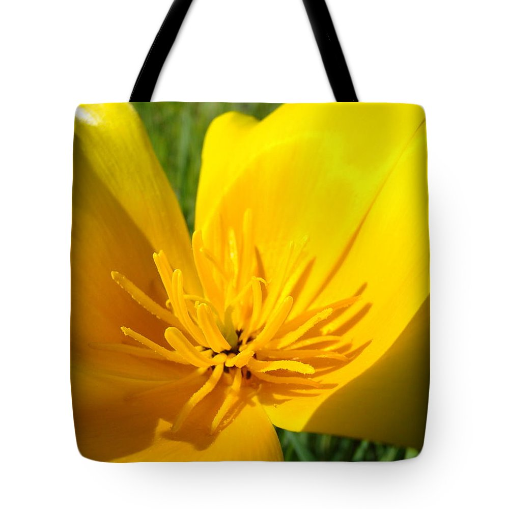 �poppies Artwork� Tote Bag featuring the photograph Poppy Flower Close Up Macro 20 Poppies Meadow Giclee Art Prints Baslee Troutman by Baslee Troutman