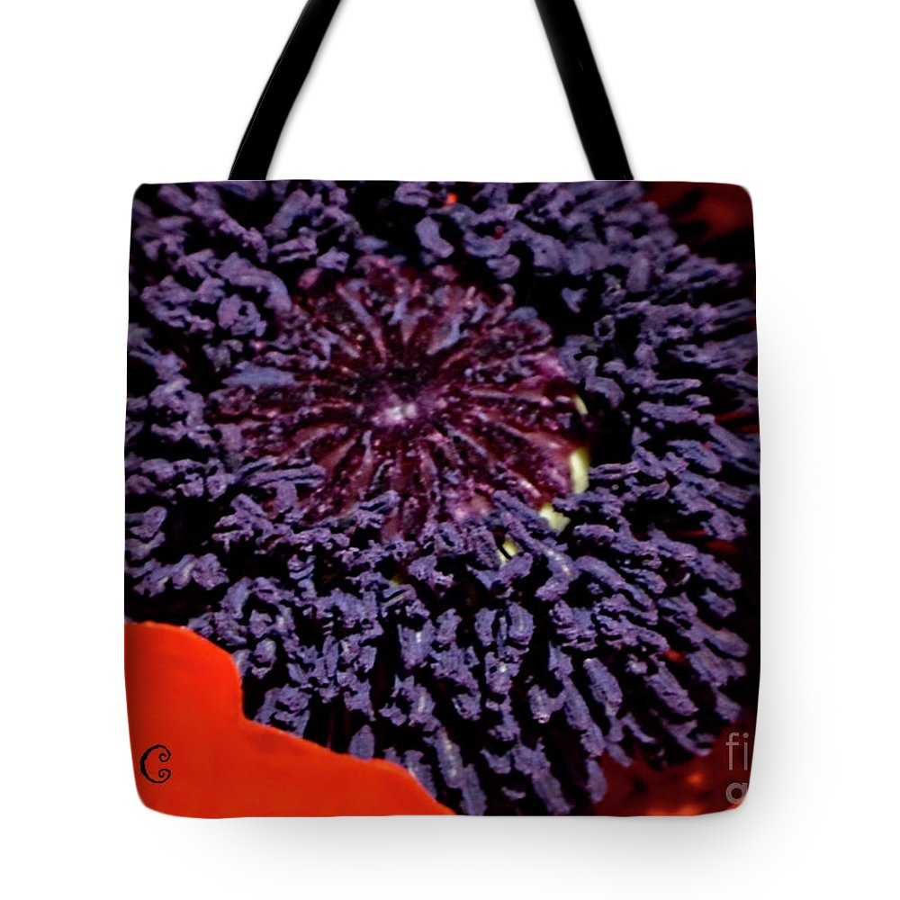 Poppy Tote Bag featuring the photograph Poppy Inside by Traci Cottingham