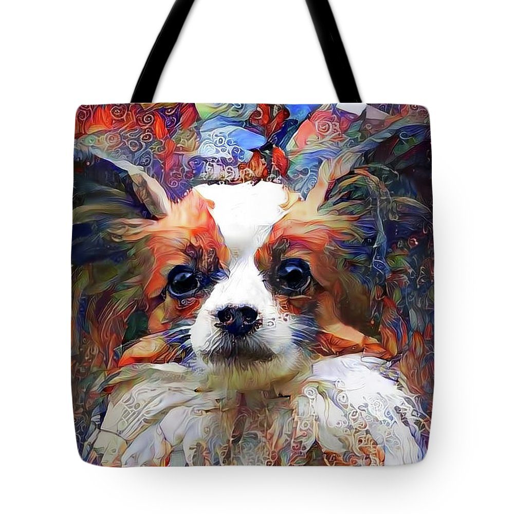 Poppy The Papillon Dog Tote Bag For Sale By Peggy Collins