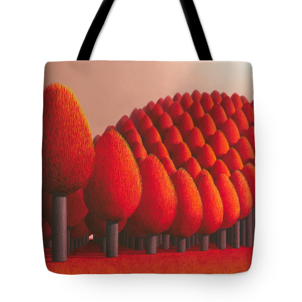 Tree Tote Bag featuring the painting Populus Flucta by Patricia Van Lubeck