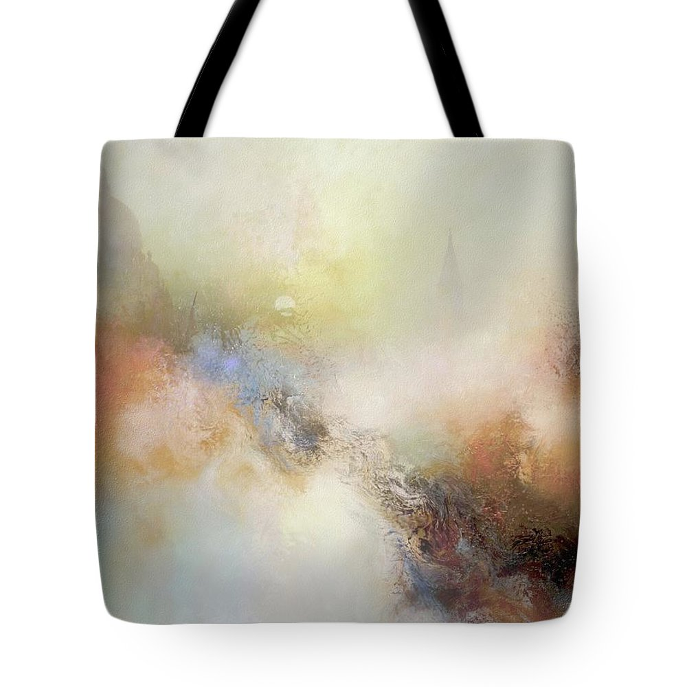 Abstract Tote Bag featuring the painting Porcelain by Joe Gilronan