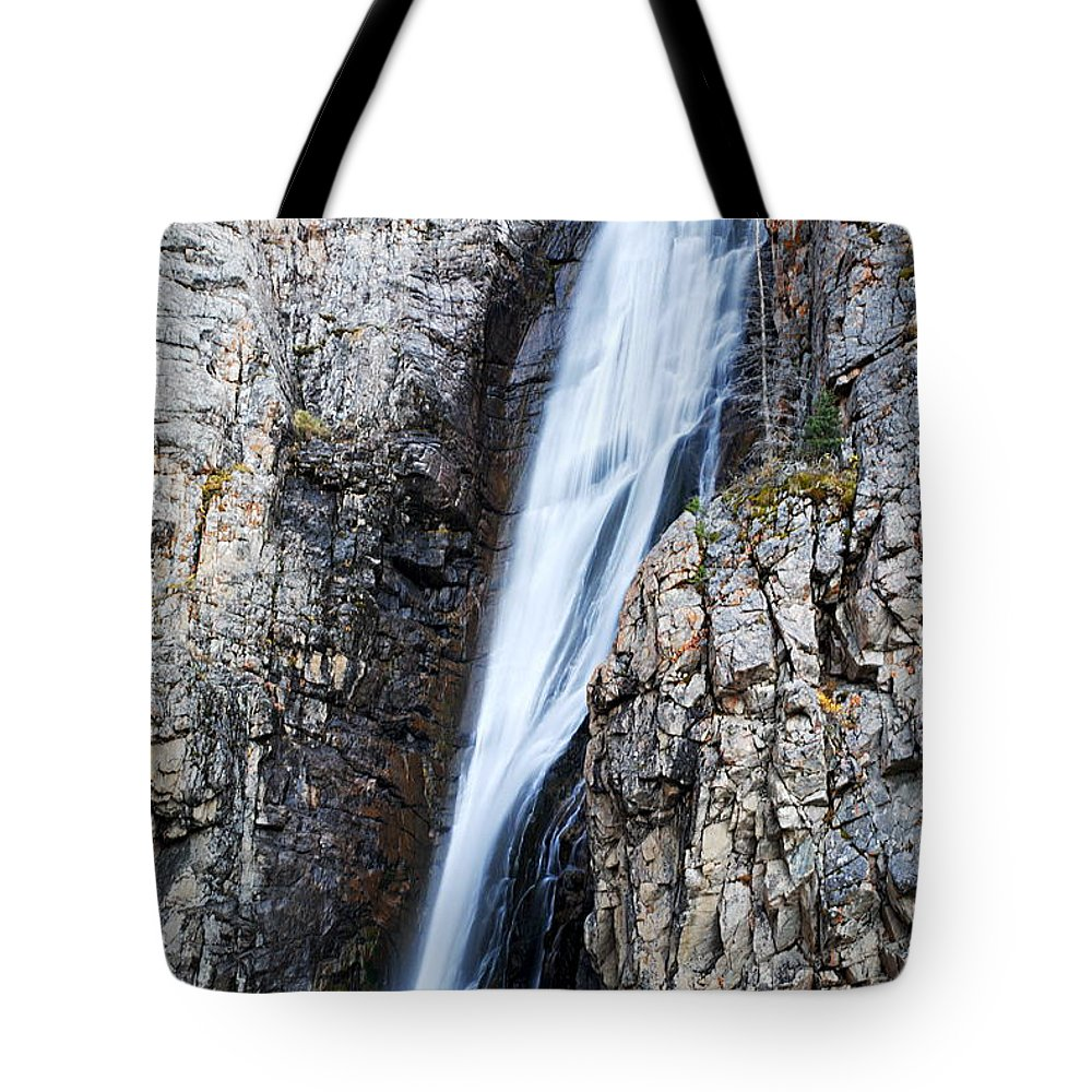 Porcupine Falls Tote Bag featuring the photograph Porcupine Falls by Larry Ricker