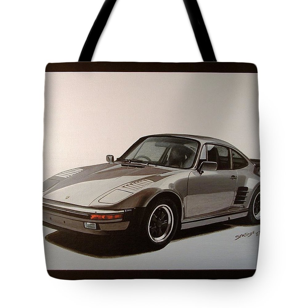 Car Tote Bag featuring the painting Porsche by Shawn Stallings