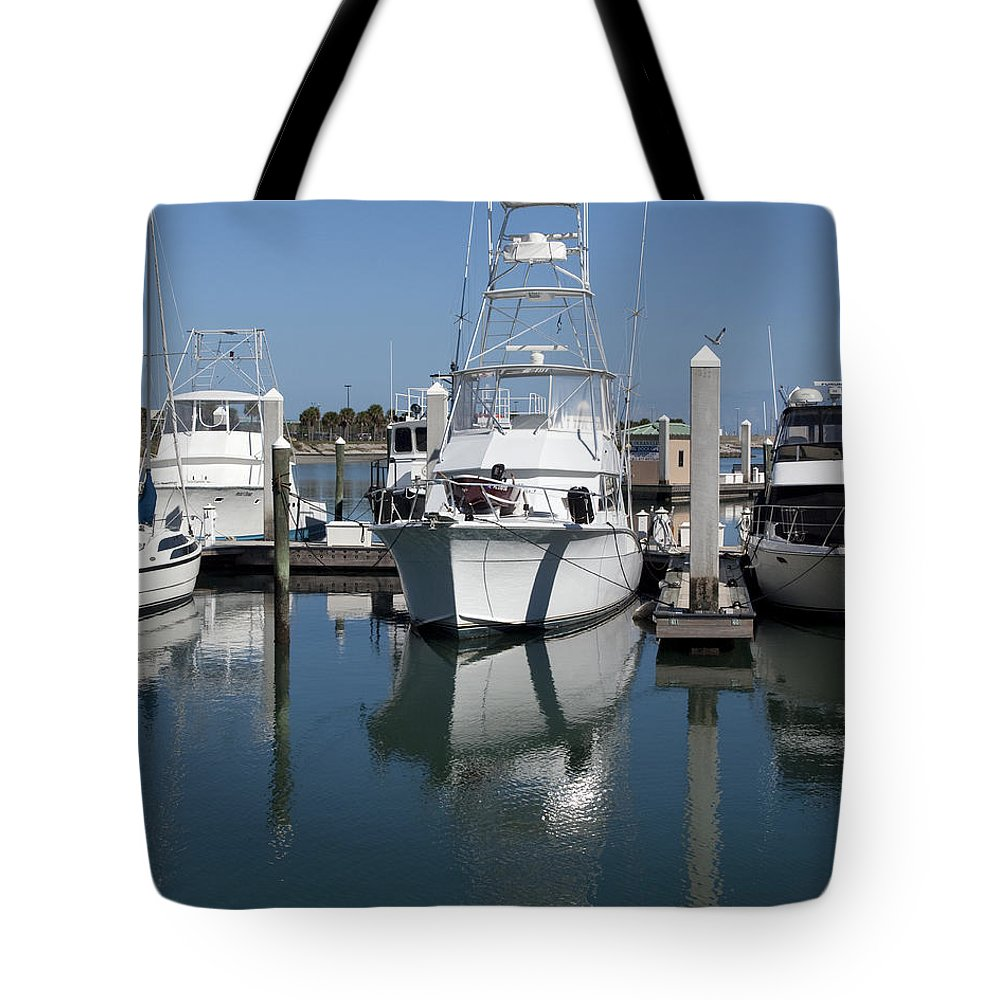 Florida Tote Bag featuring the photograph Port Canaveral Floirda Usa by Allan Hughes