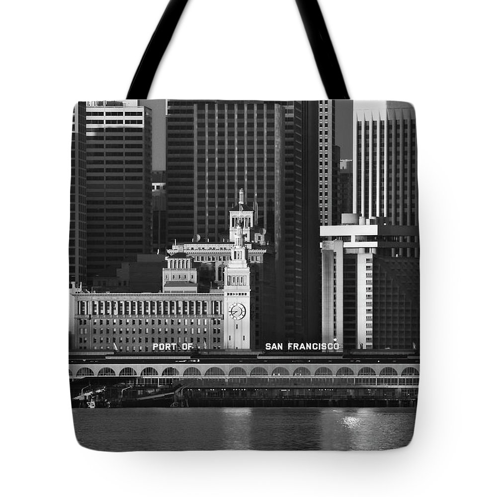 Port Tote Bag featuring the photograph Port Of San Francisco by Mick Burkey