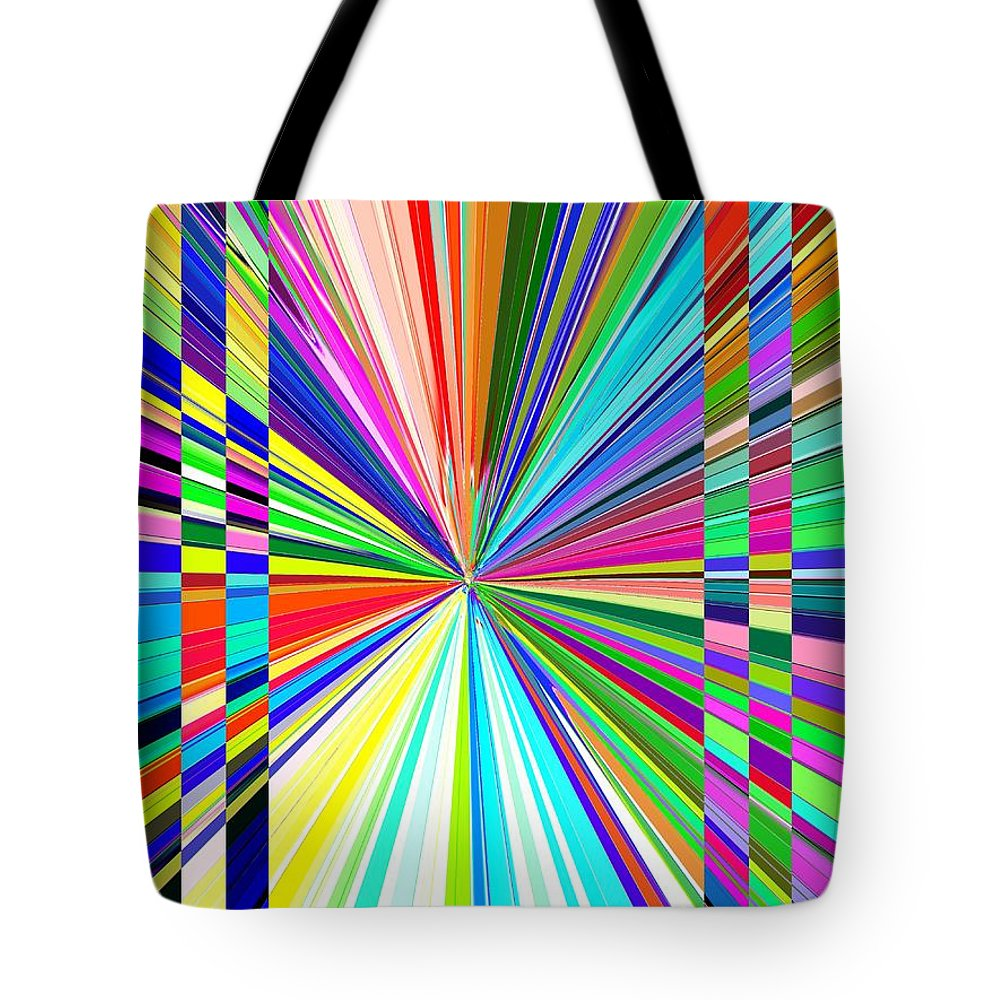 Abstract Tote Bag featuring the digital art Portal 2 by Tim Allen