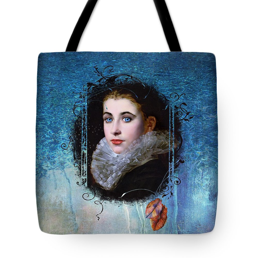 Women.vintage Tote Bag featuring the painting Portal Portrait by Laura Botsford