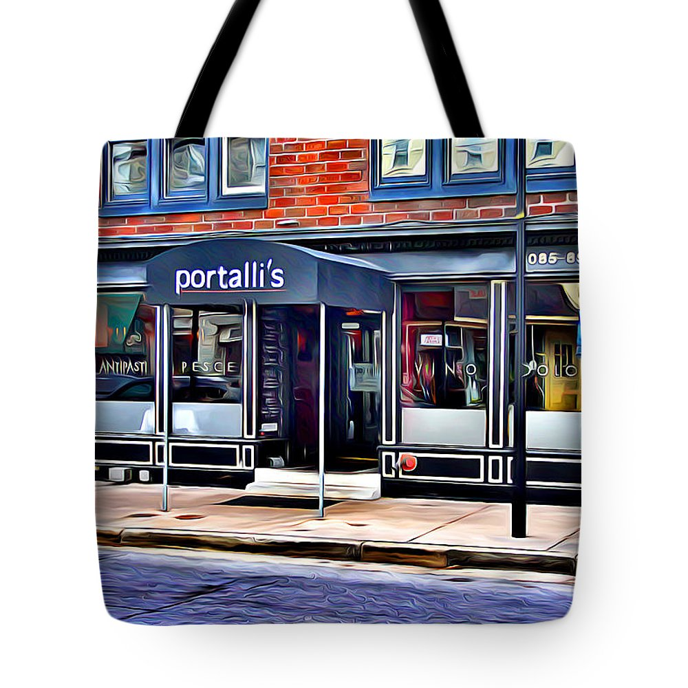 Portalli's Tote Bag featuring the digital art Portalli's by Stephen Younts