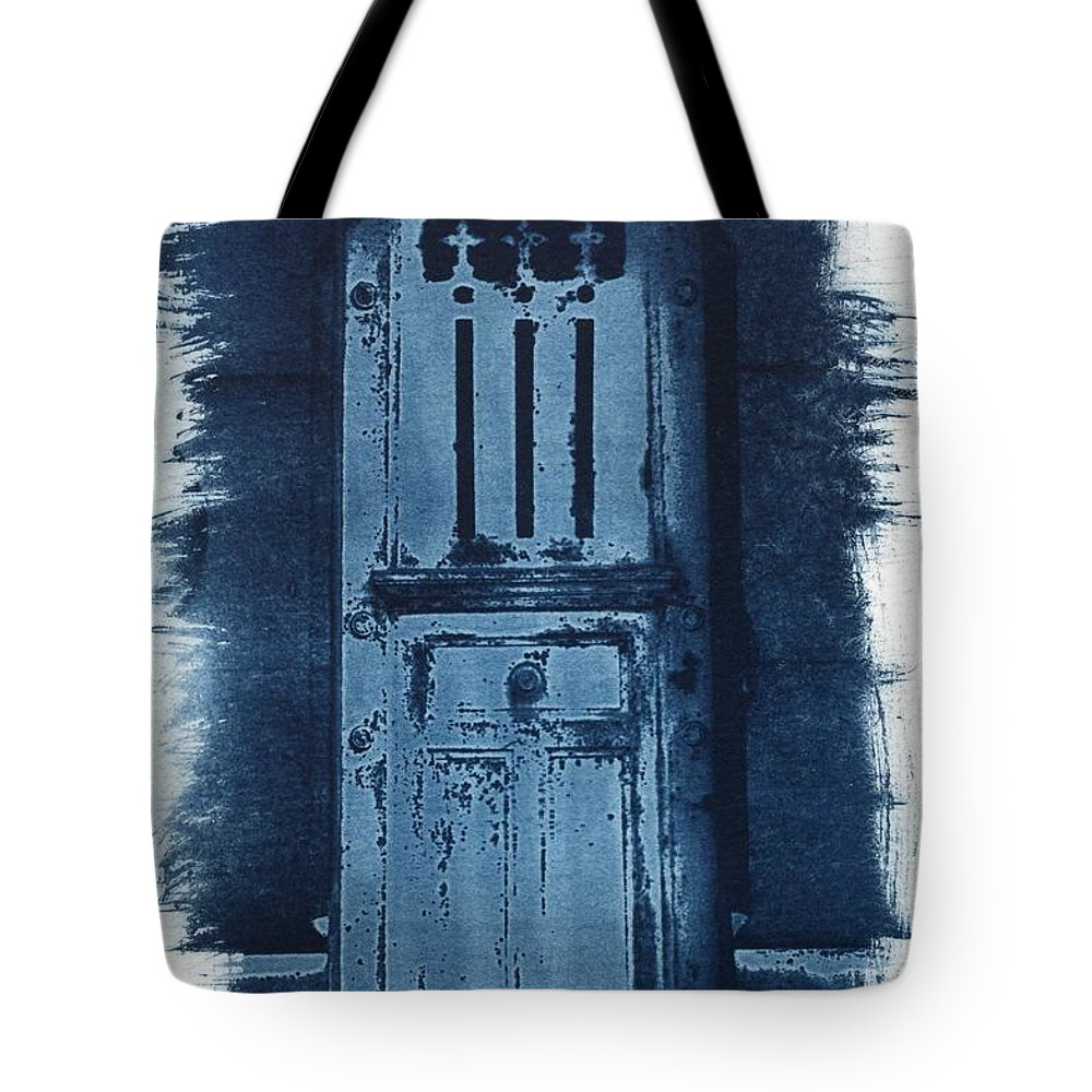 Cyanotype Tote Bag featuring the photograph Portals by Jane Linders