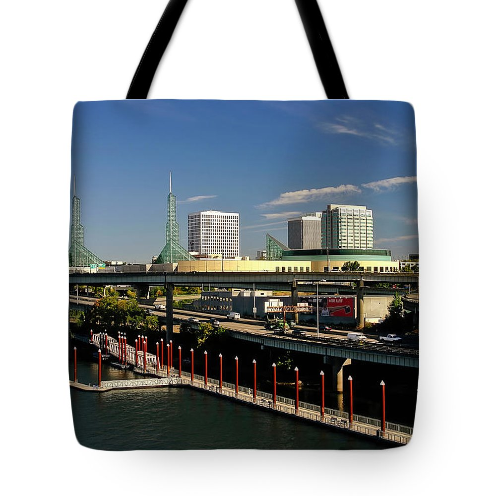 Portland Tote Bag featuring the photograph Portland East Bank by Albert Seger