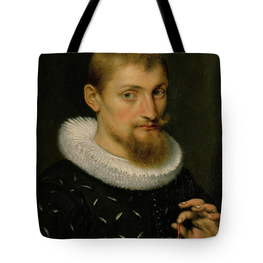 Baroque Tote Bag featuring the painting Portrait Of A Man by Peter Paul Rubens