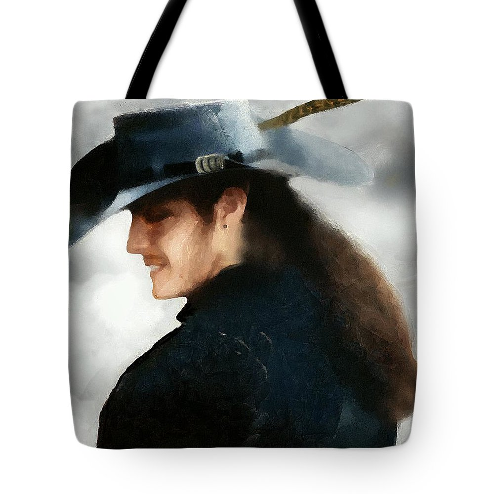 Buccaneer Tote Bag featuring the painting Portrait Of A Young Man As A Buccaneer by RC DeWinter