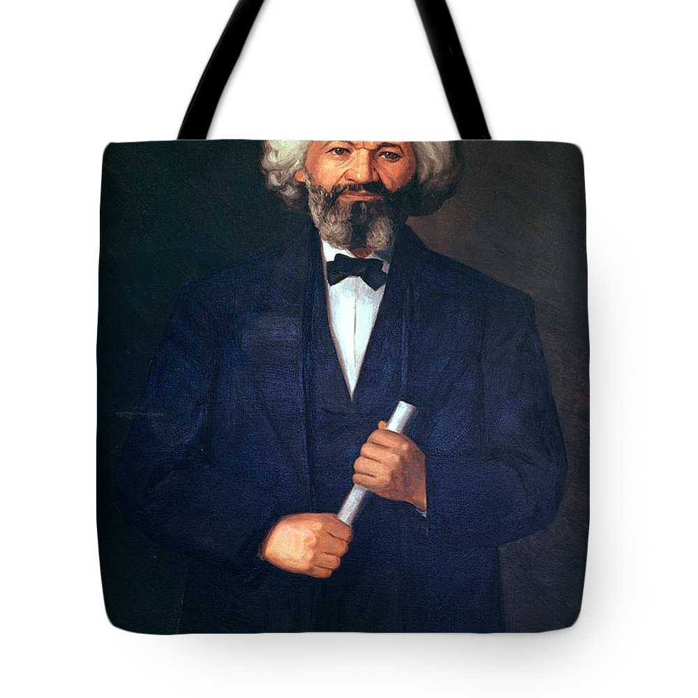 Portrait Of Frederick Douglass (1817-95) (oil On Canvas) By American School (19th Century) Tote Bag featuring the painting Portrait Of Frederick Douglass by American School