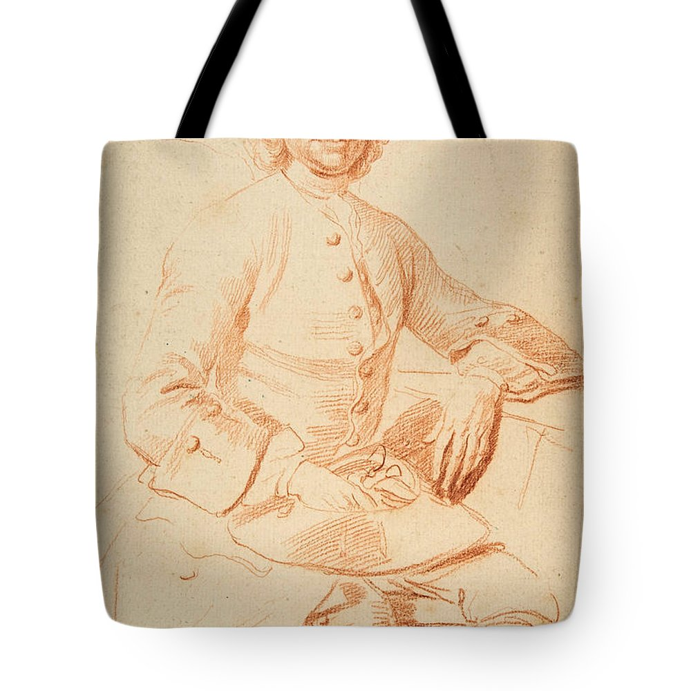 Thomas Hudson Tote Bag featuring the drawing Portrait Of George Graham  by Thomas Hudson