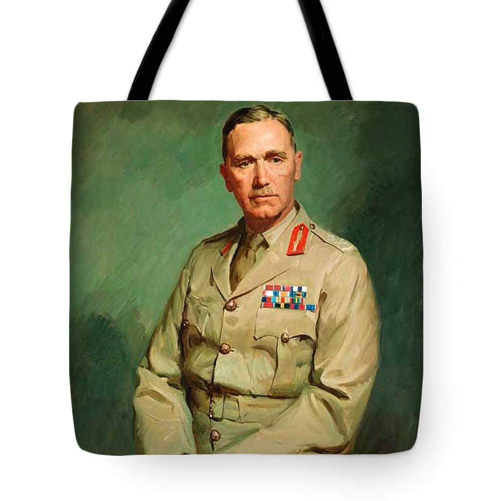 Painting Tote Bag featuring the painting Portrait Of Lieutenant - General The Honorable Sir Edmund Herring by Mountain Dreams