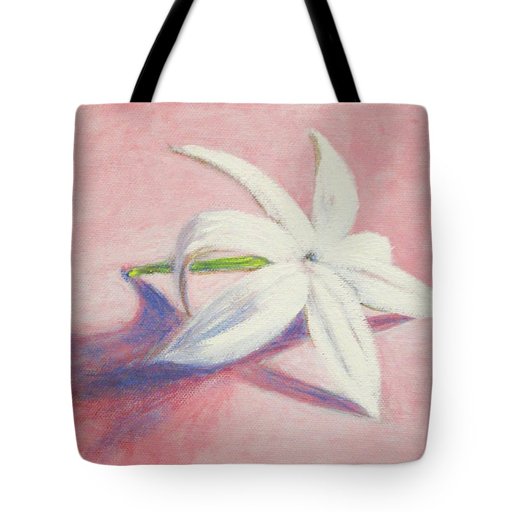Portrait Tote Bag featuring the painting Portrait Of The Jasmine Flower by Usha Shantharam