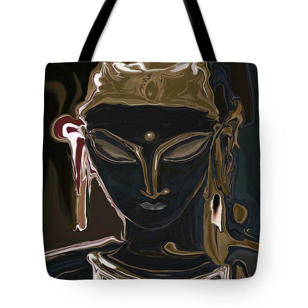 Art Tote Bag featuring the digital art Portrait Of Vajrasattva by Rabi Khan