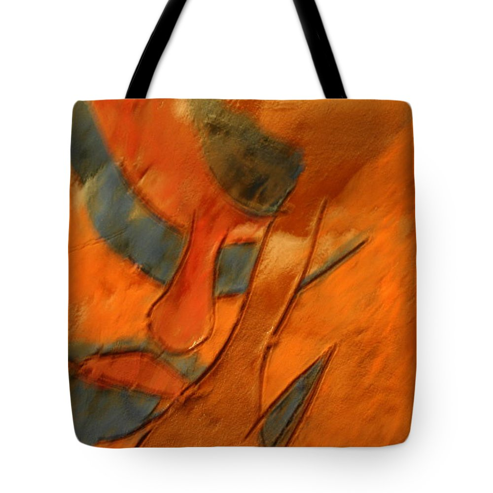 Jesus Tote Bag featuring the ceramic art Pose - Tile by Gloria Ssali
