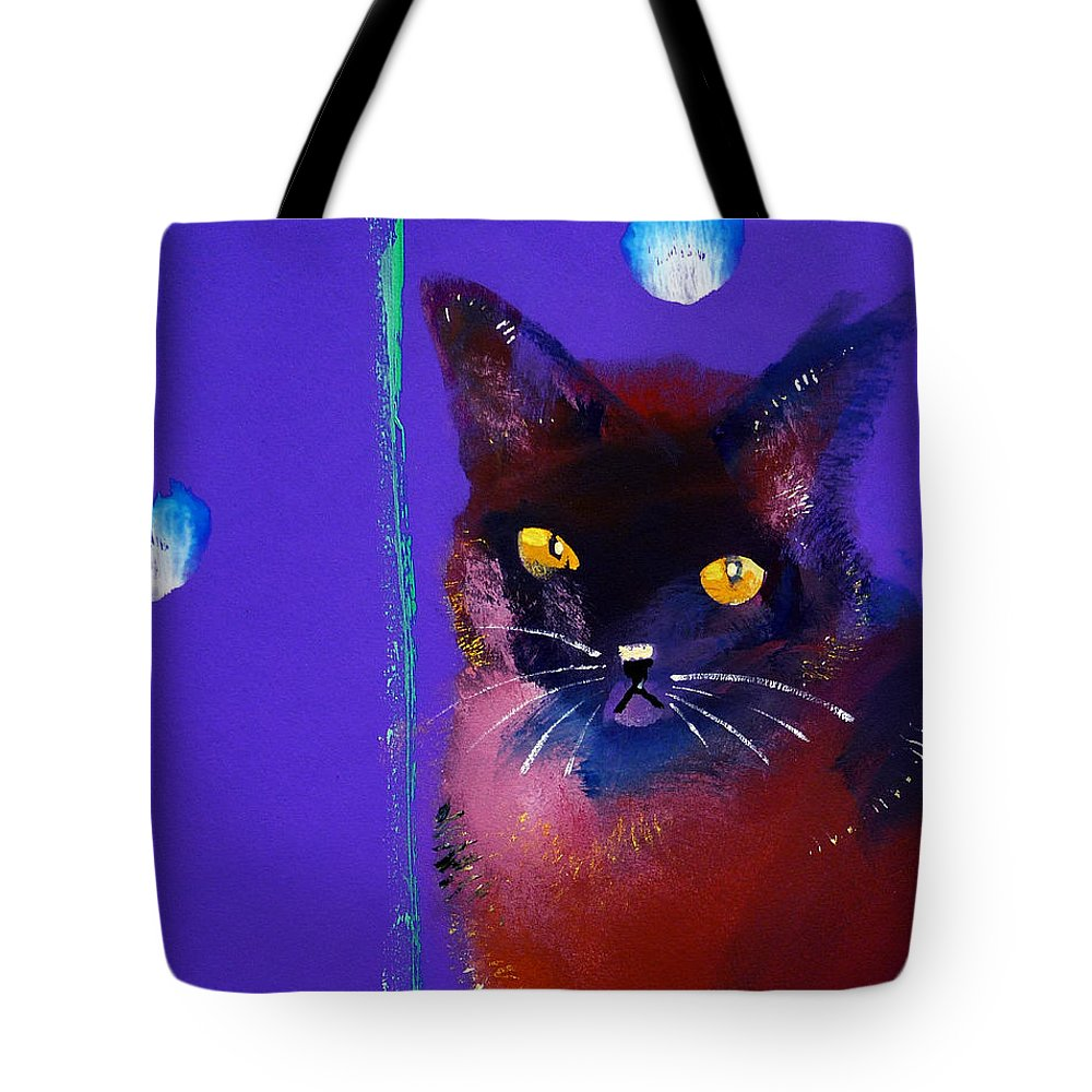 Cat Tote Bag featuring the painting Posh Tom Cat by Charles Stuart