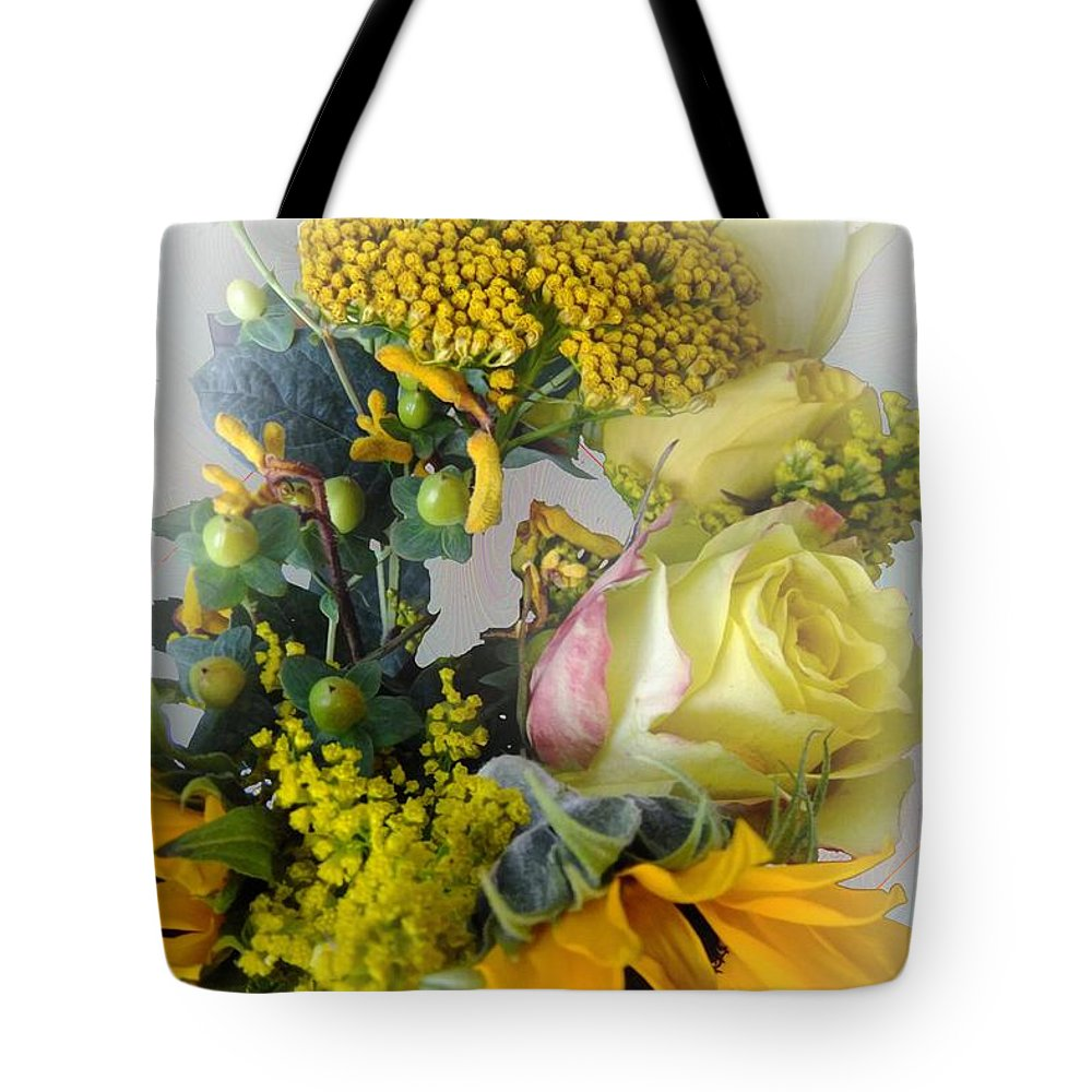 Bouquet Tote Bag featuring the photograph Posies Picturesque by RC DeWinter