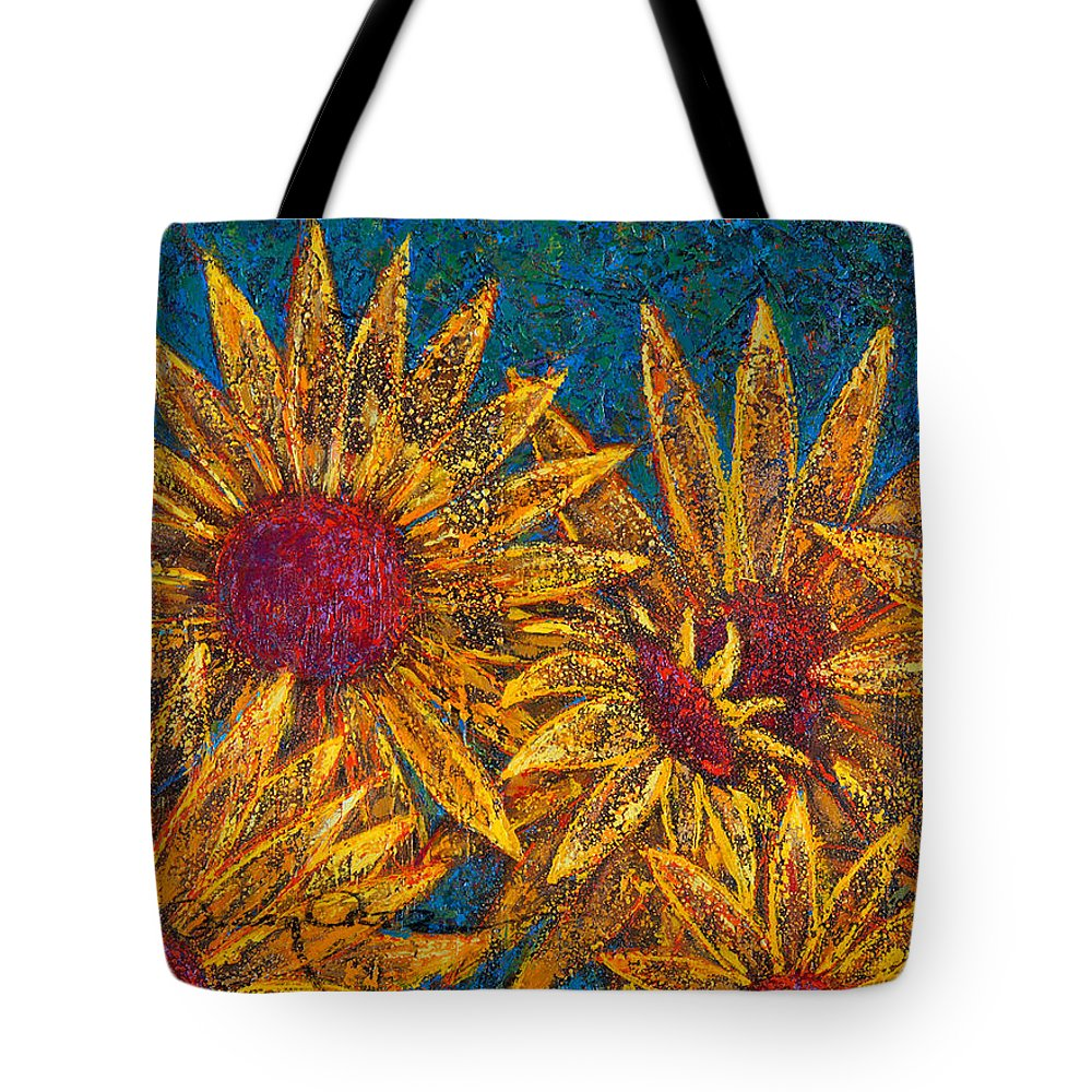 Flowers Tote Bag featuring the painting Positivity by Oscar Ortiz