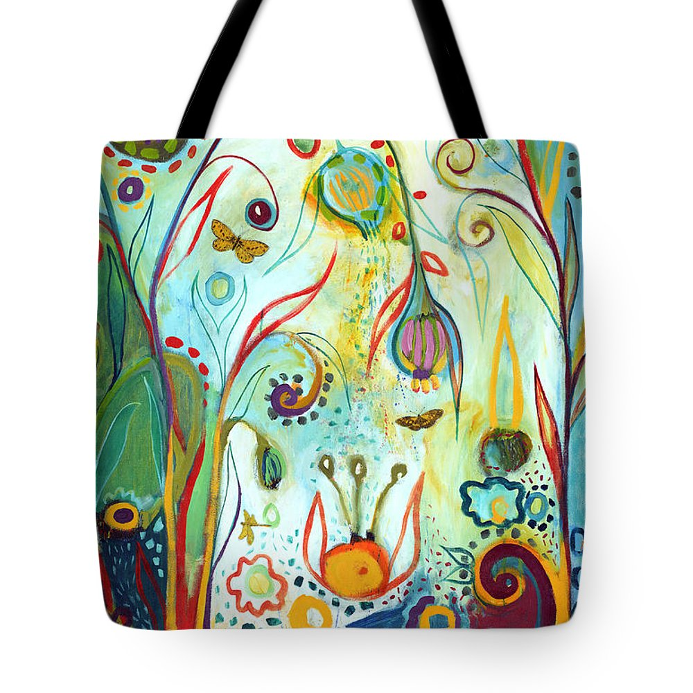 Garden Tote Bag featuring the painting Possibilities by Jennifer Lommers