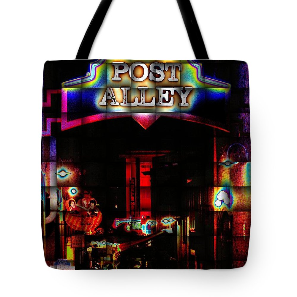 Seattle Tote Bag featuring the photograph Post Alley Weave by Tim Allen