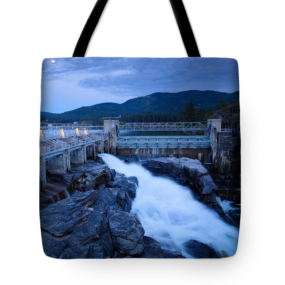 Dam Tote Bag featuring the photograph Post Falls Dam by Idaho Scenic Images Linda Lantzy