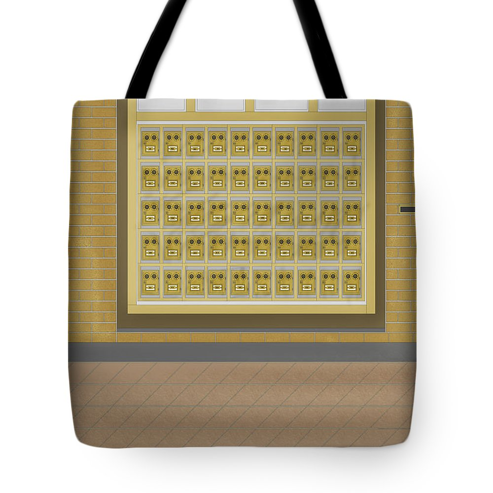 Post Office Boxes Tote Bag featuring the painting Post Office And Store At Ralston by Anne Norskog
