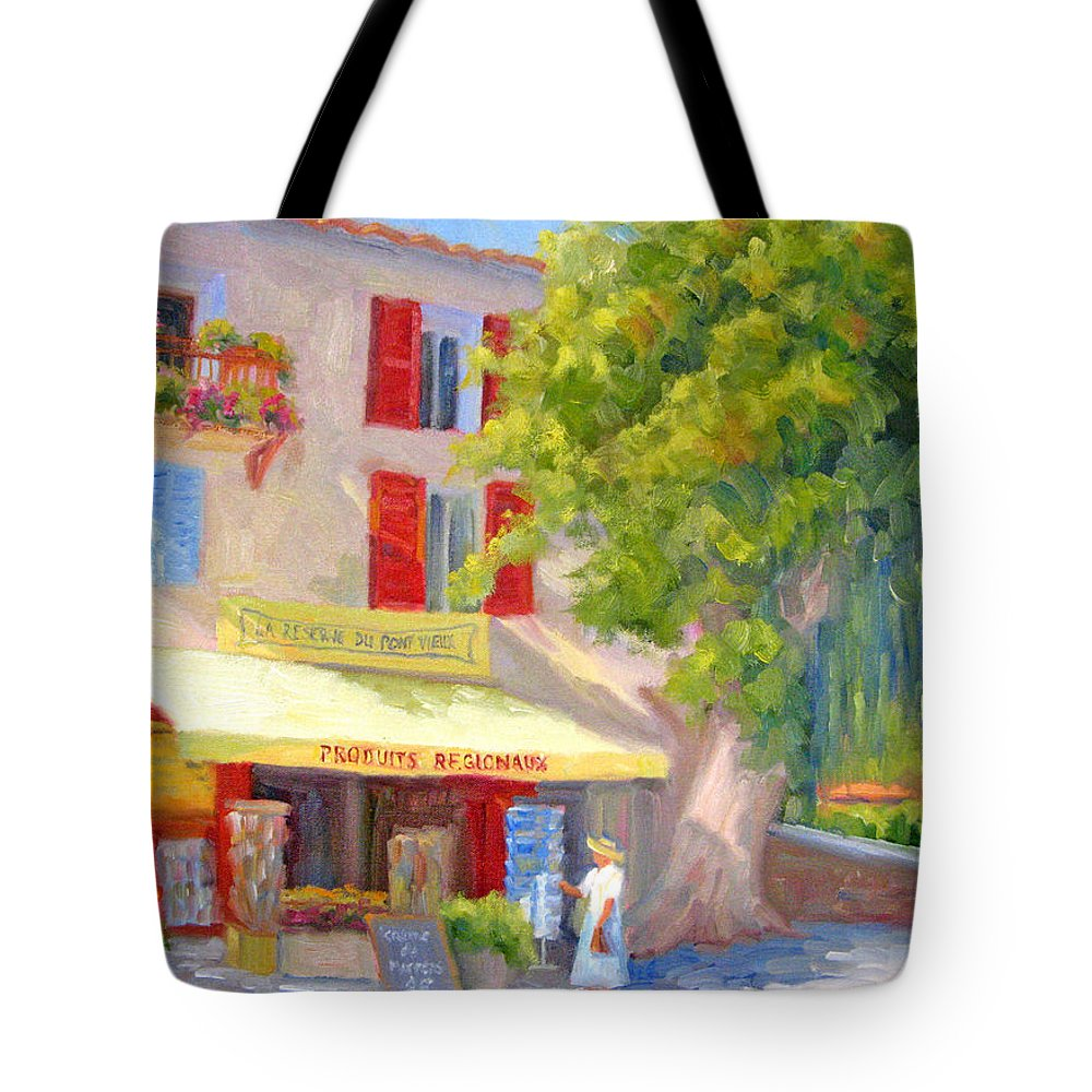 Provence Tote Bag featuring the painting Postcard From Provence by Bunny Oliver