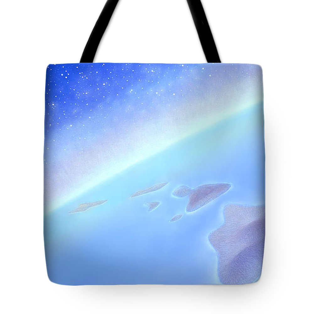 Hawaiian Islands Tote Bag featuring the painting Postcards From Concorde by Kevin Smith