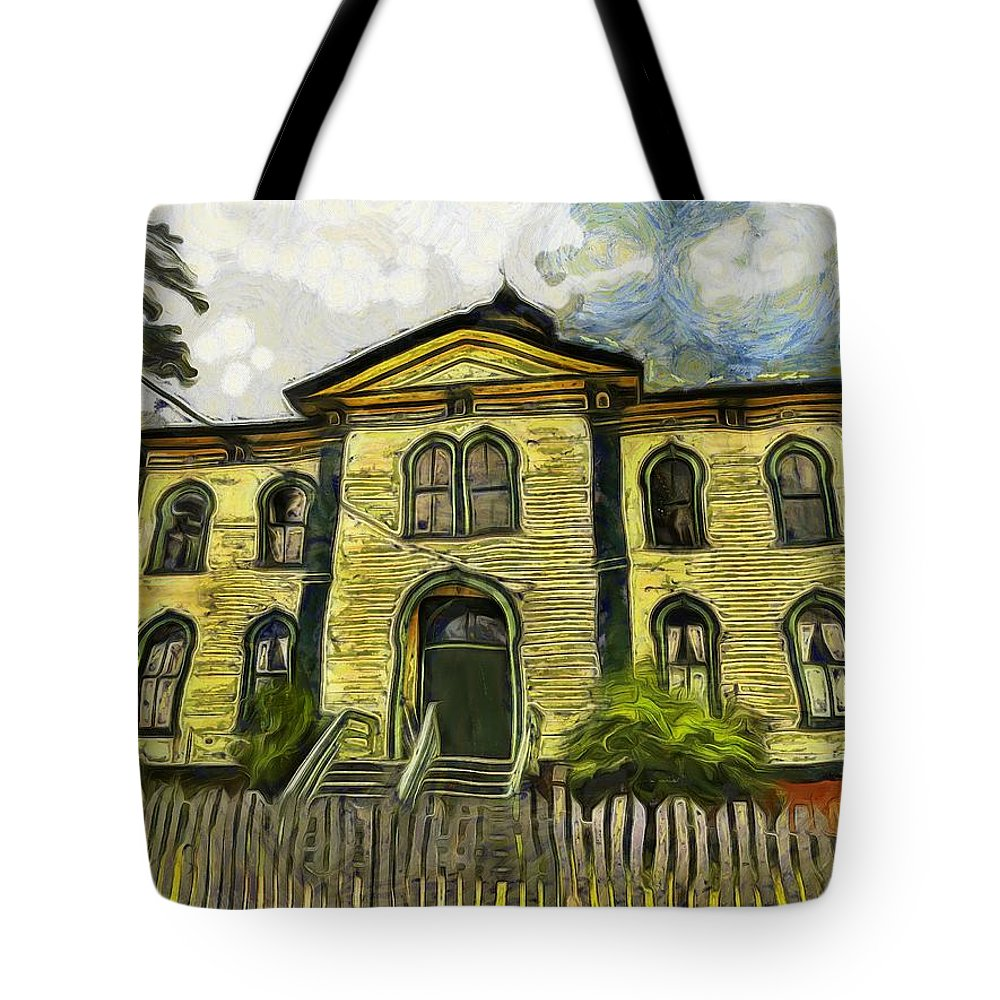 Potter Schoolhouse Tote Bag featuring the photograph Potter Schoolhouse by Carla Witte
