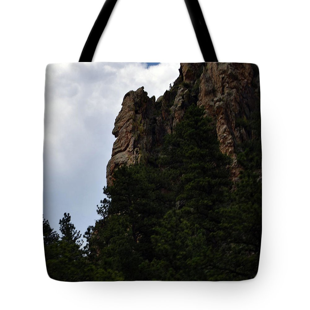 Poudre Canyon Tote Bag featuring the photograph Poudre Canyon by Linda Benoit