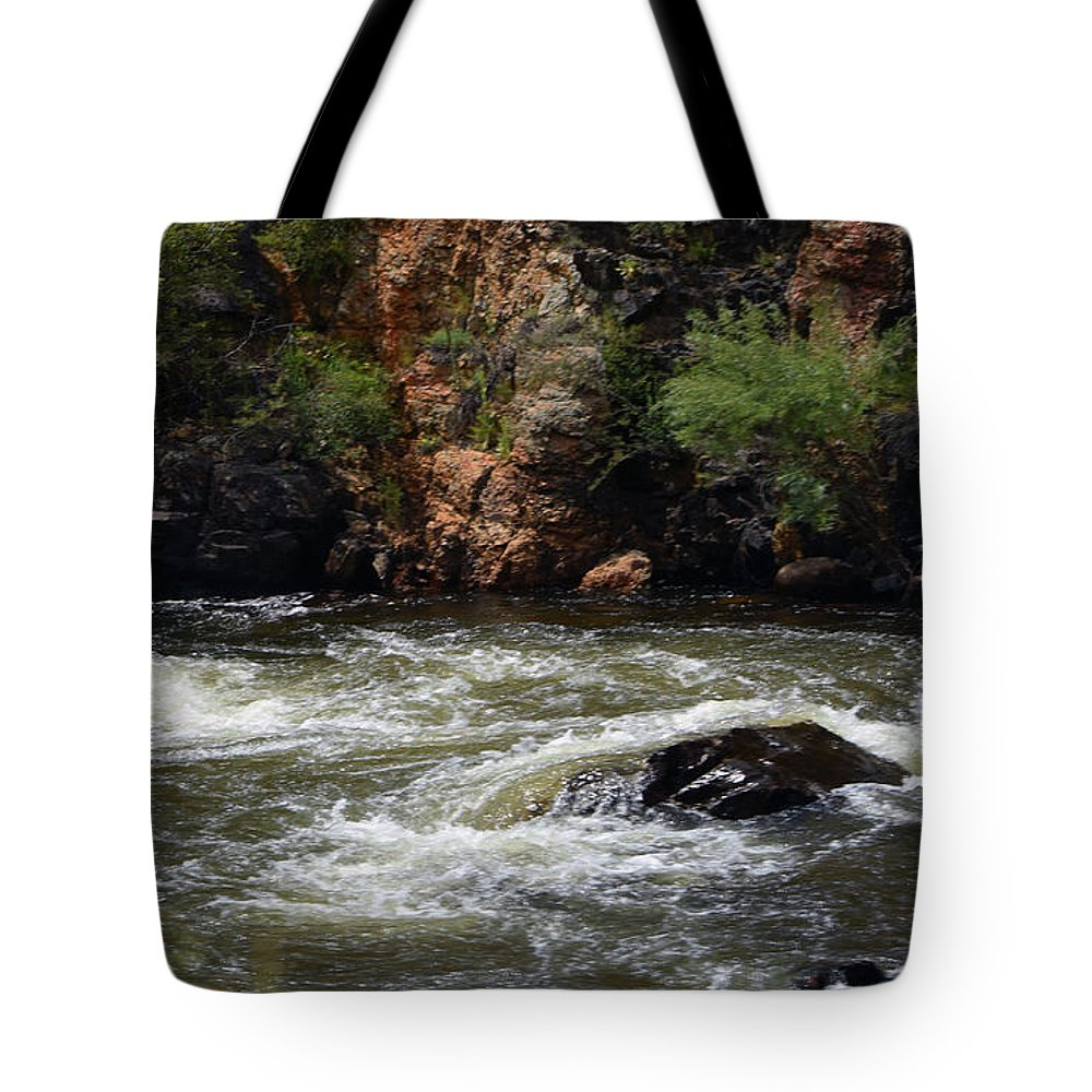 River Tote Bag featuring the photograph Poudre River by Linda Benoit