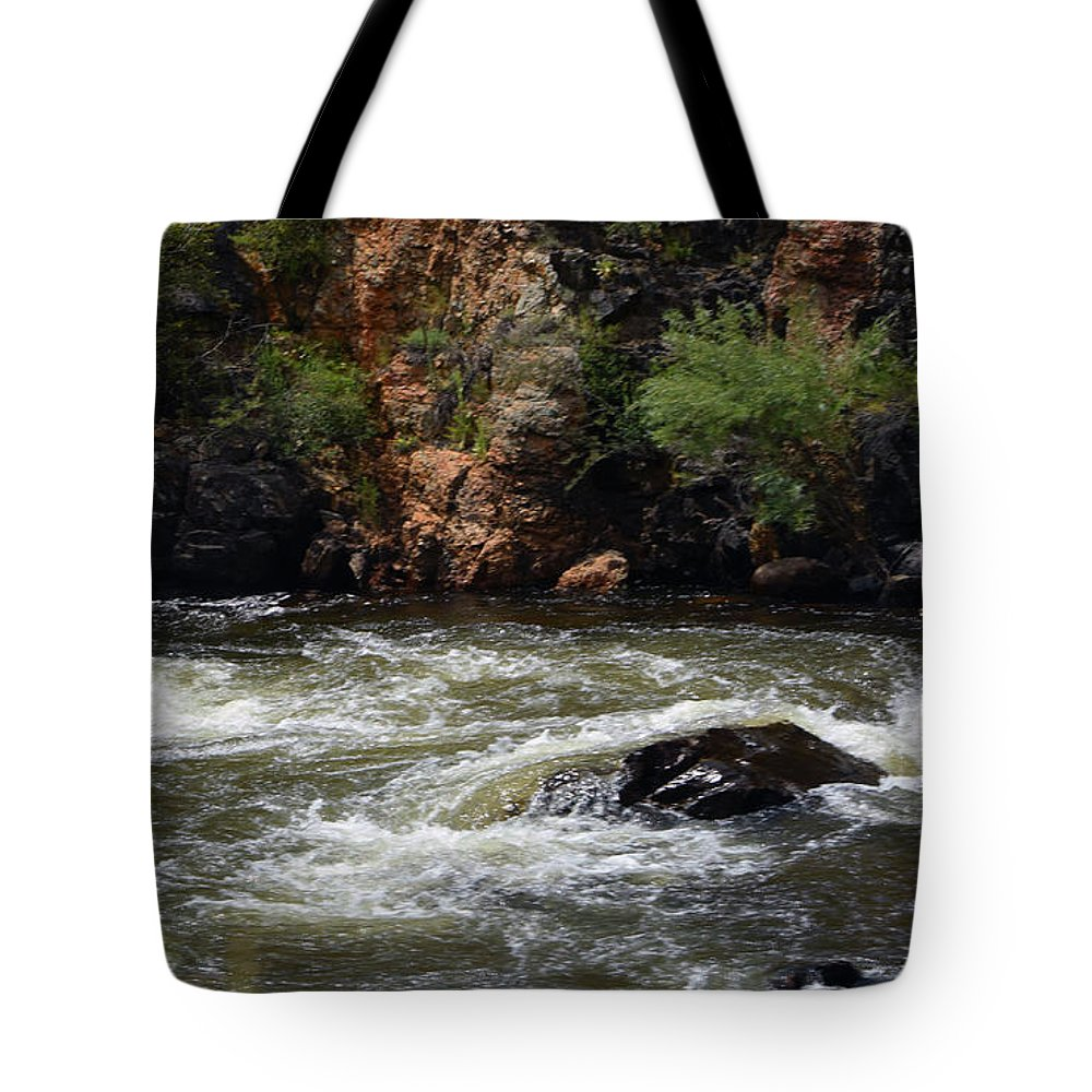 River Tote Bag featuring the photograph Poudre River 2 by Linda Benoit