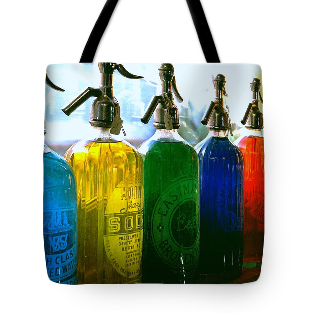 Food And Beverage Tote Bag featuring the photograph Pour Me a Rainbow by Holly Kempe
