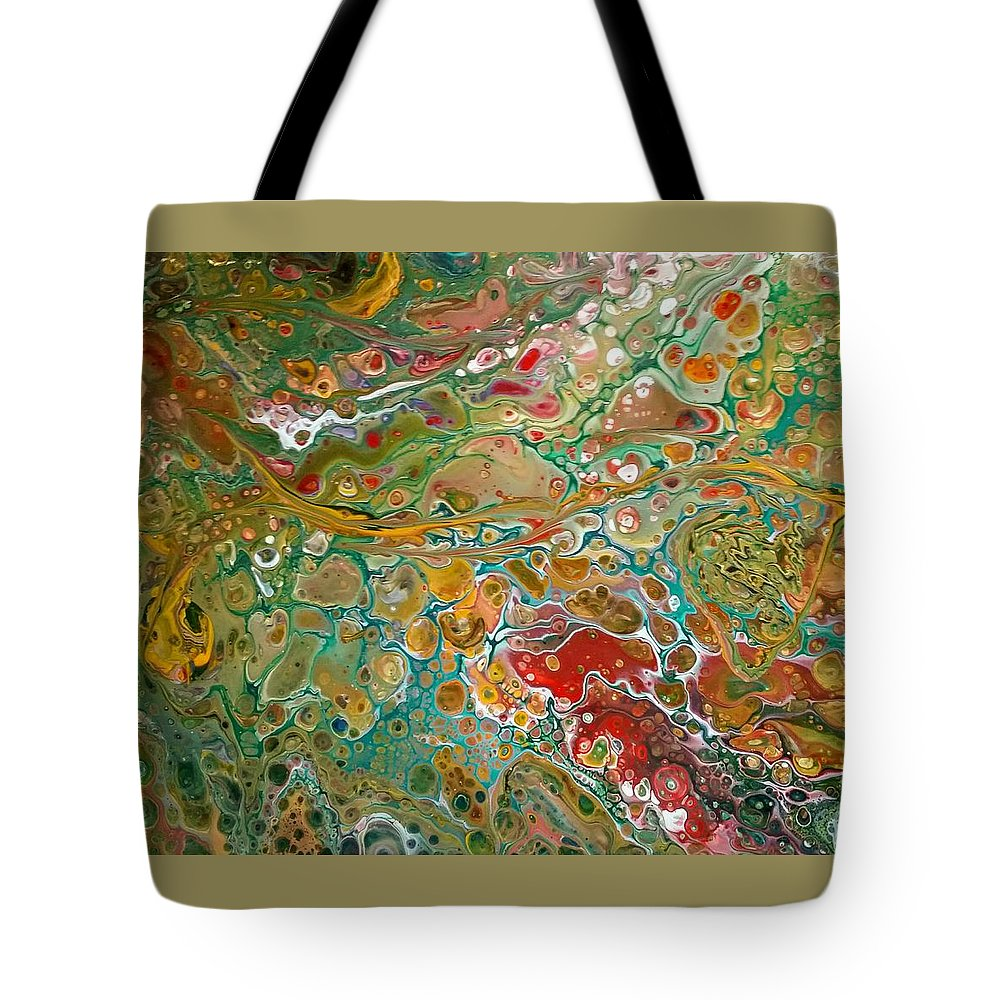 Pour Tote Bag featuring the painting Pour10 by Valerie Josi